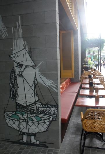 Cool graffiti in little alleys