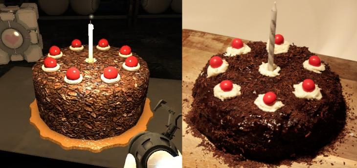portal cake comparison